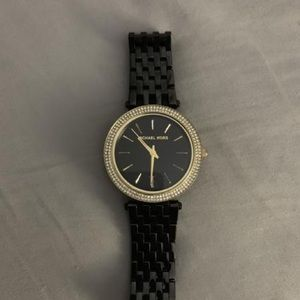 Black and Gold Michael Kors Watch